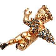Ciner Cherub Brooch