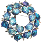 Charel Molded Glass Stone Brooch