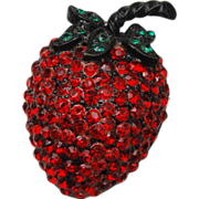 Weiss Strawberry Brooch