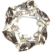 Kramer Black Diamond Rhinestone Brooch