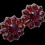 Czechoslovakia Rose Cut Bohemian Garnet Brooch