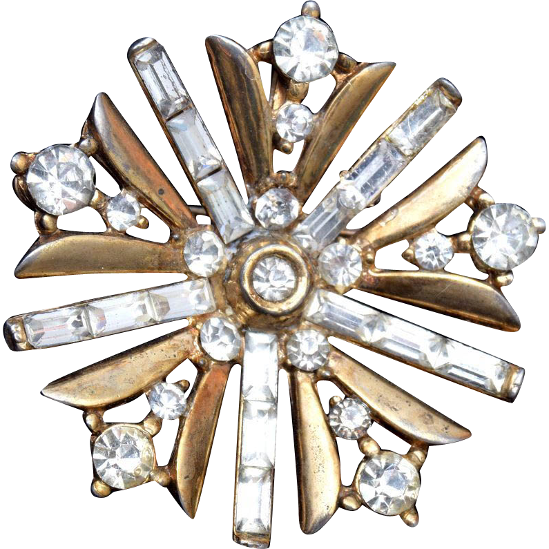 1949 Trifari Patent Pending Snow Flake Brooch Book Piece