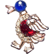 Figural Walking Duck Brooch