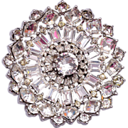 Very Well Made and Sparkly Clear Rhinestone Brooch