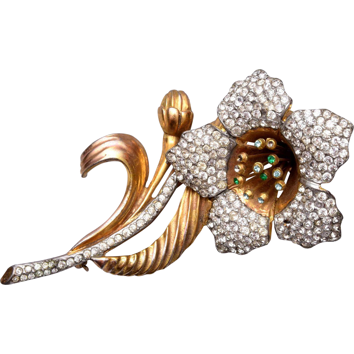 Deja 1939-1940 3-D Flower Brooch – Book Piece