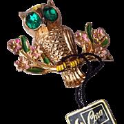 1948 A. Katz Coro Owl Brooch Book Piece