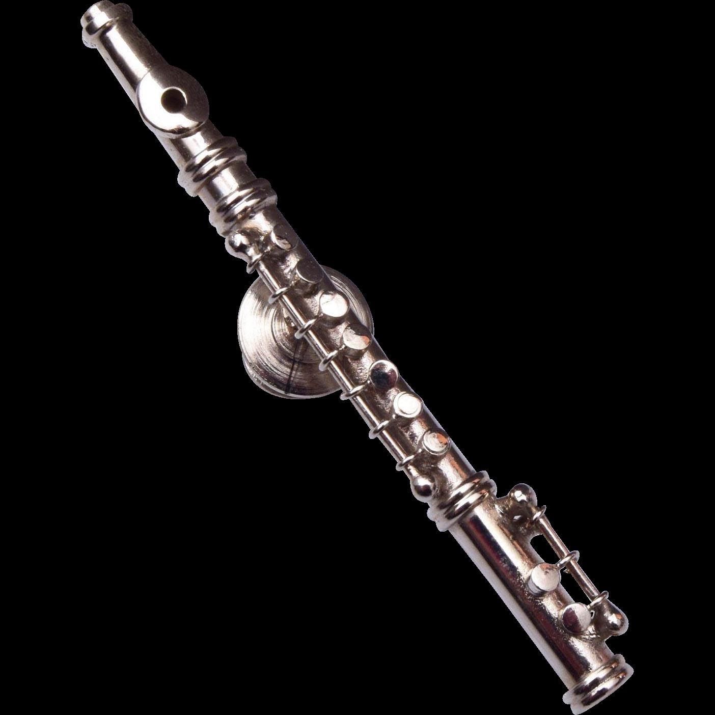 Flute Tie Pin or Brooch
