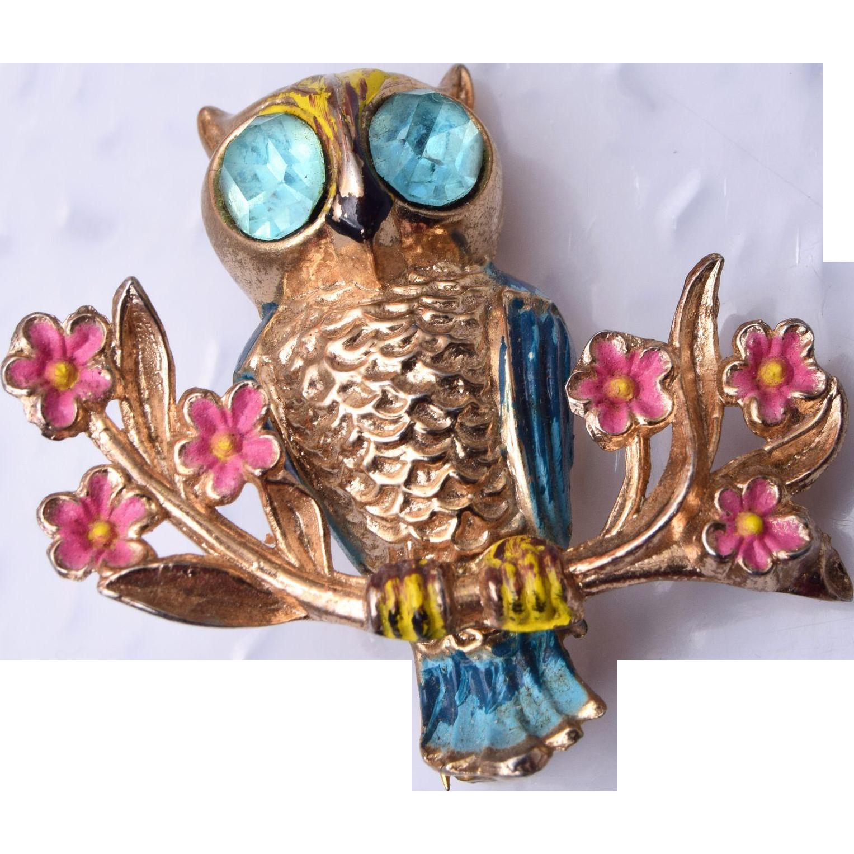 1948 Coro Book Piece Owl Brooch