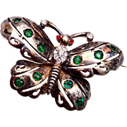 Reja Sterling Vermeil Butterfly Brooch