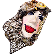Painted Lady Ltd. Face Brooch