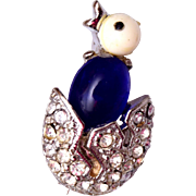 1949 Trifari Hatching Bird Brooch