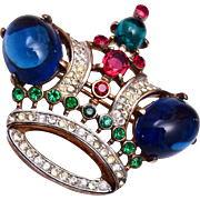 1946 Trifari Patent Pending Crown Brooch