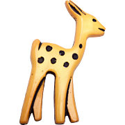 Celluloid Baby Deer Brooch