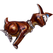 EB Sterling Germany Enameled Figural Brooch