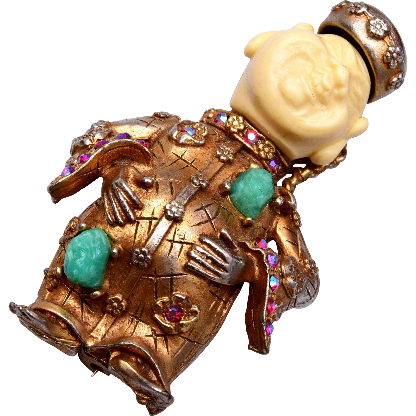 HAR 1960 Full Smiling Buddha Brooch