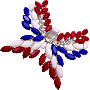 Red White and Blue Butterfly Brooch