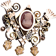 Gold Filled Cameo Brooch