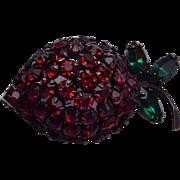 Warner Strawberry Brooch