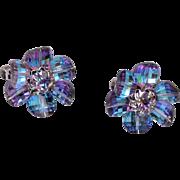 Vendome Blue Crystal Earrings