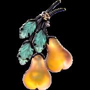 Austria Pear Brooch