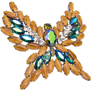 Large Magnificent Butterfly Brooch