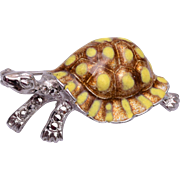 Alice Caviness Sterling Germany Turtle Brooch