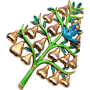 Cadoro Partridge in a Pear Tree Brooch