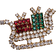 Christmas Package Sleigh Brooch