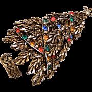 ART Christmas Tree Brooch