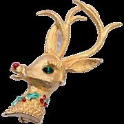Mylu Rudolf Reindeer Brooch