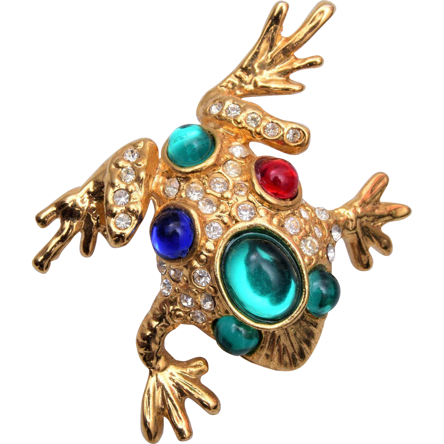 Jeweled Jelly Frog Brooch