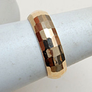 14kt Gold Faceted Band Size 8-1/4