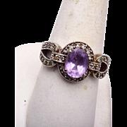 9-1/2 Purple Stone Ring
