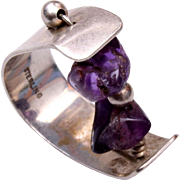 Sterling Ring With Amethyst Size 9