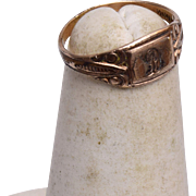 "14kt Gold Filled Baby Ring Etched ""D"""