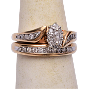 10kt Gold Wedding Set 5-1/2 – Wedding Ring and Engagement Ring