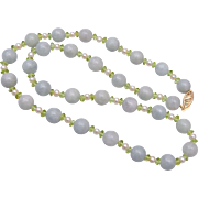 14kt and Mutton Fat Jade and Pearls