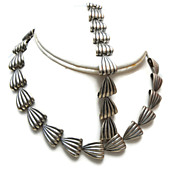 1952 Sterling Napier Necklace and Bracelet Set - Book Piece