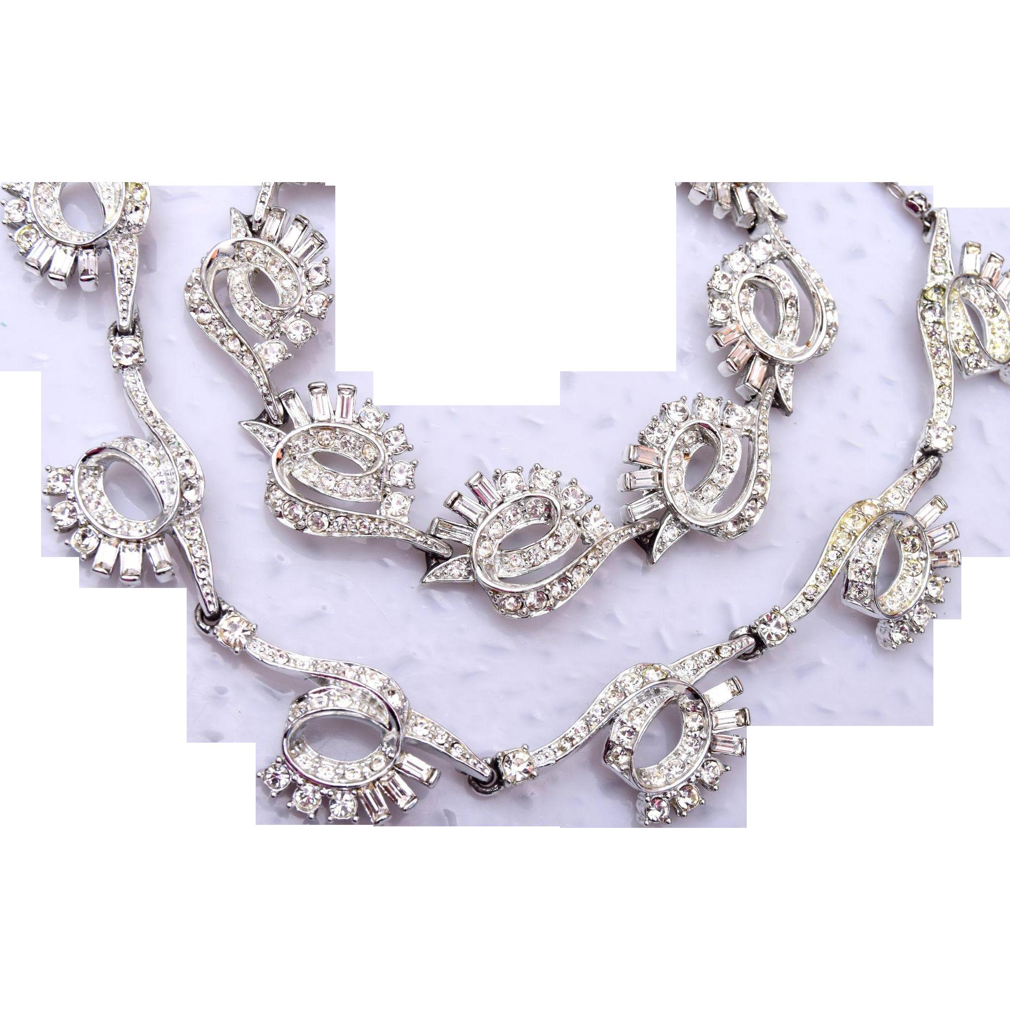 Charel Rhinestone Necklace and Bracelet Set
