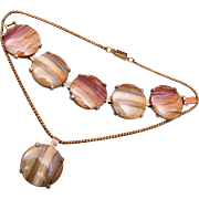 Banded Agate Bracelet and Necklace