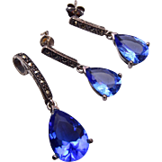 Sterling and Marcasite Pendant and Pierced Earrings