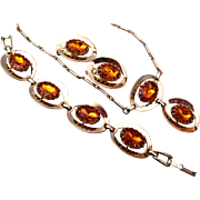 Topaz Bracelet, Necklace and Earring Set