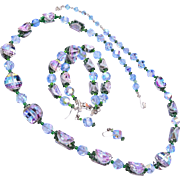 Beautiful Blue Crystal Vendome Parure