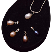 Pearl Necklace with 4 Additional Pearls In Original Box