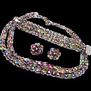 Aurora Borealis Crystal Parure