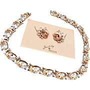 1950 Trifari Necklace and Earring Set