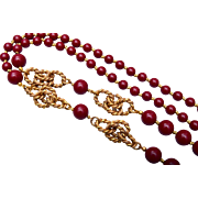 Miriam Haskell Burgundy Necklace