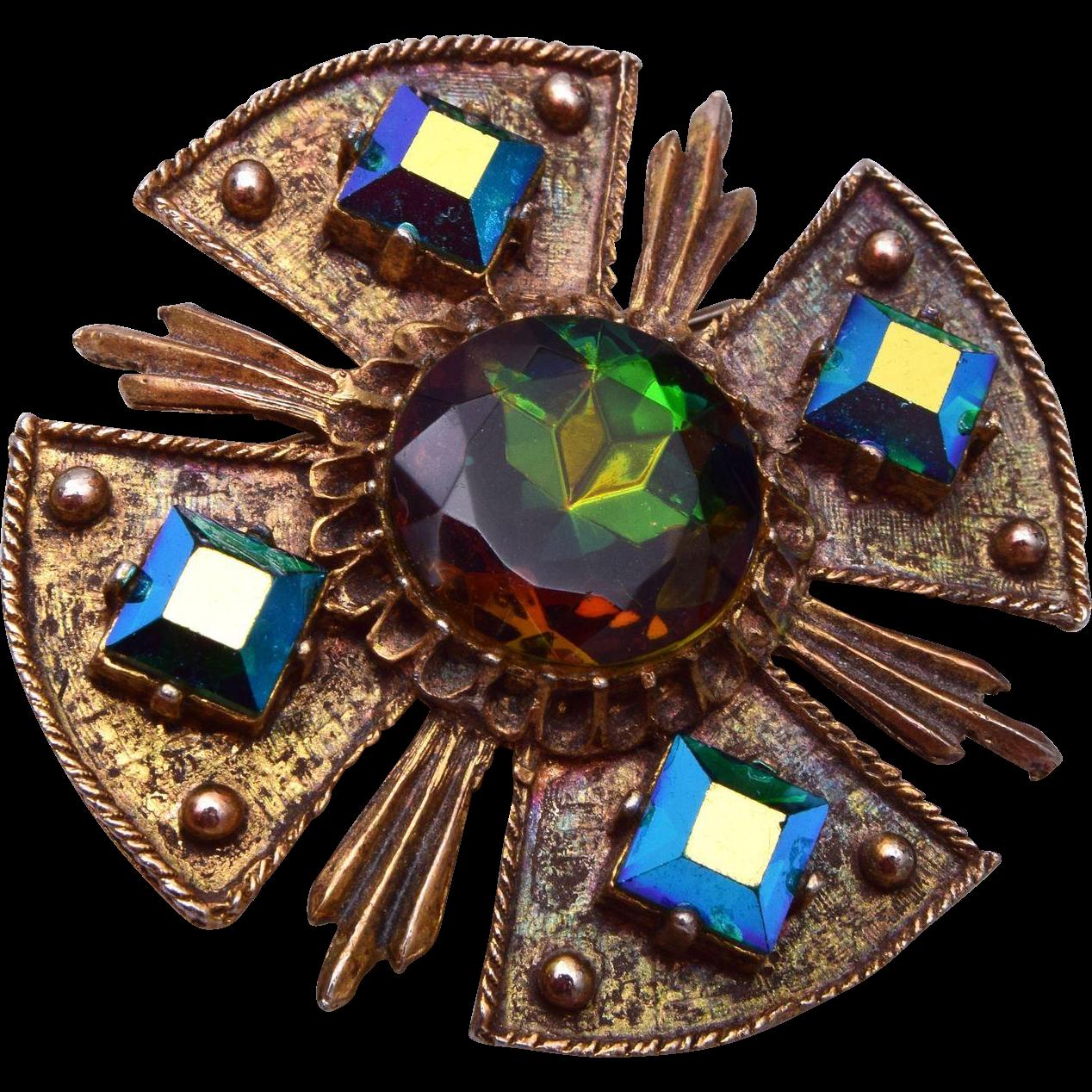 DODDs Maltese Cross Brooch or Pendant