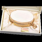 Speidel Heart and Diamond Engraved Bracelet in Original Box