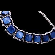 Coro with Pegasus Thermoset Blue Bracelet